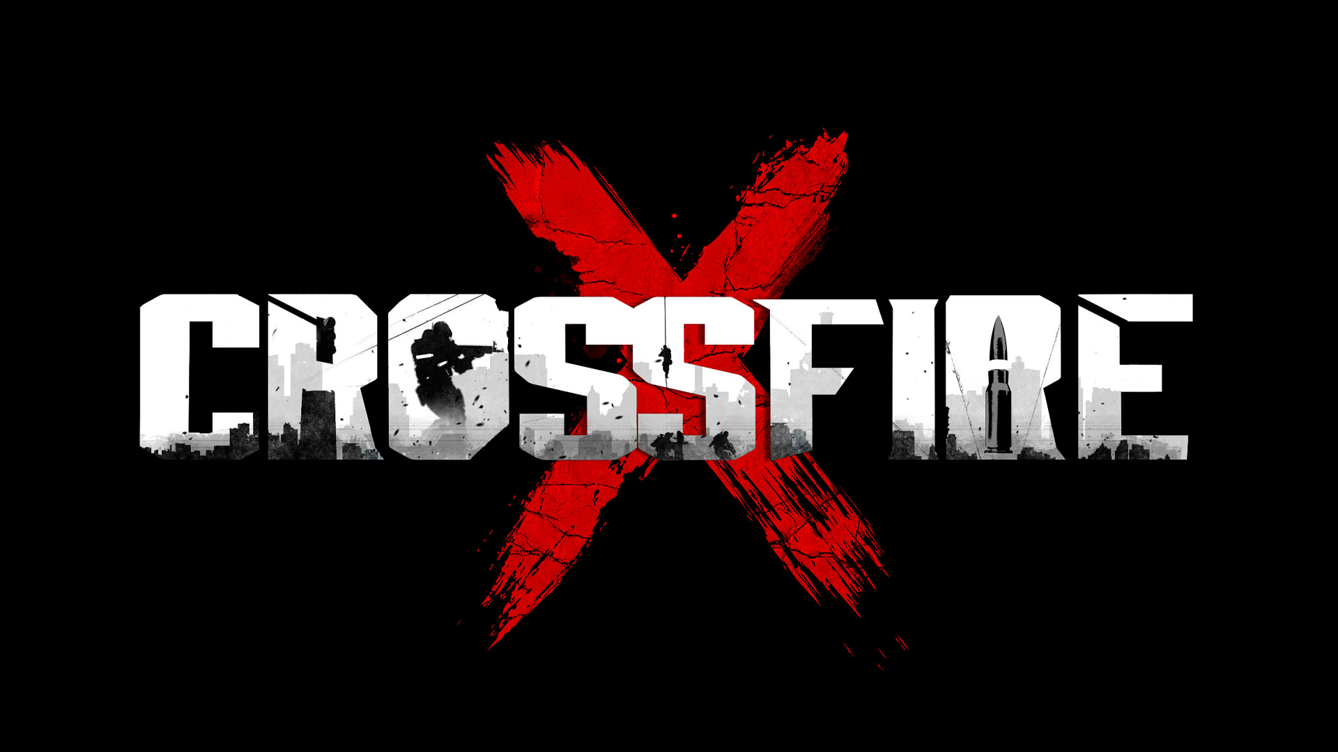 CrossfireX logo with black background