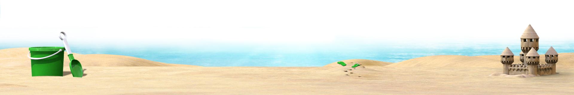 A tranquil beach scene.