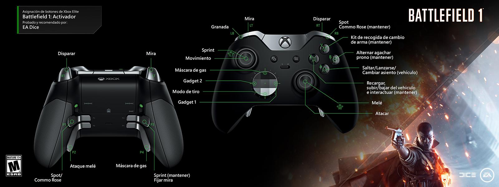 Battlefield 1: asignación de funciones del gatillo de alta sensibilidad