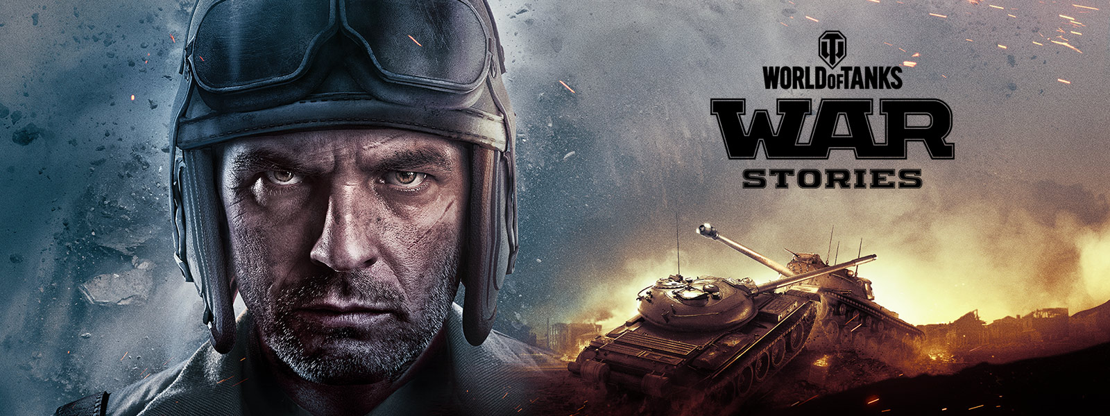 Map World Of Tanks Pc To Controller%0A     Close up of tank operator wearing helmet and goggles with tank battle  in background