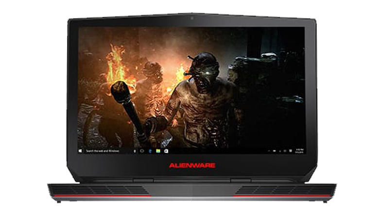 Alienware laptop showing the desktop screen