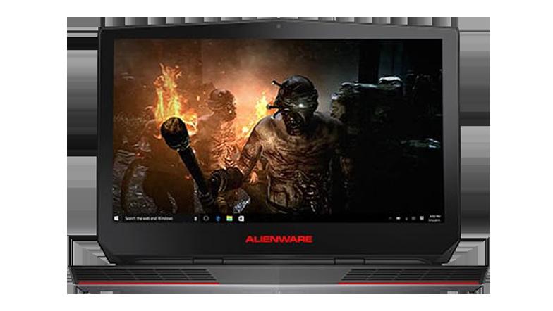 Alienware bærbar datamaskin viser skrivebordsskjermen