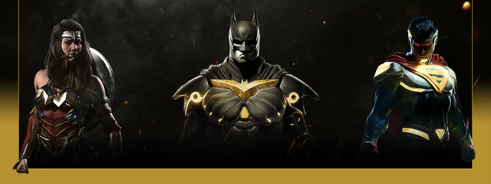 Future Superwomen Batman and Superman in Injustice 2