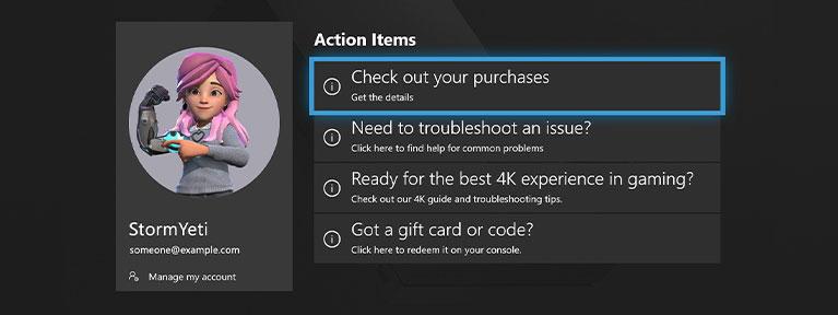 Στιγμιότυπο οθόνης που δείχνει μια τοποθεσία υποστήριξης Βοηθού Xbox