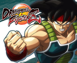 Dragon Ball FighterZ, vista frontal de Bardock con el puño levantado