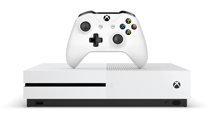 Xbox One S 1TB console and White Wireless Controller