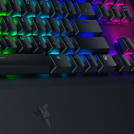 Close up of backlit keyboard