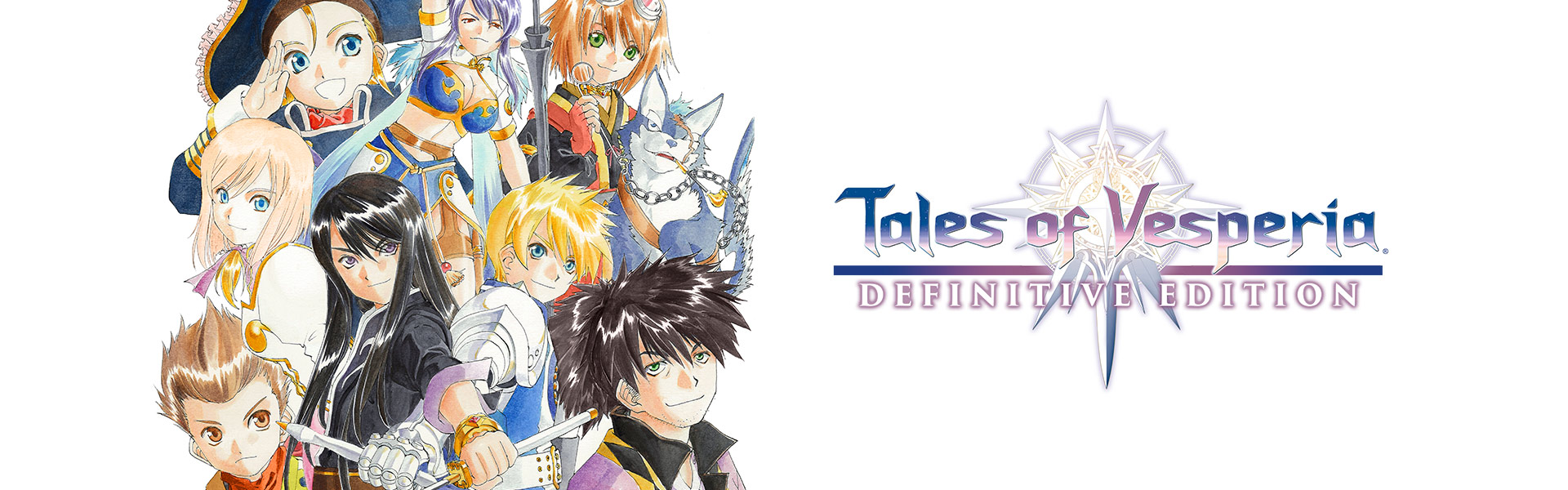 Tales of Vesperia: Definitive Edition, grupo de personajes jugables amontonados