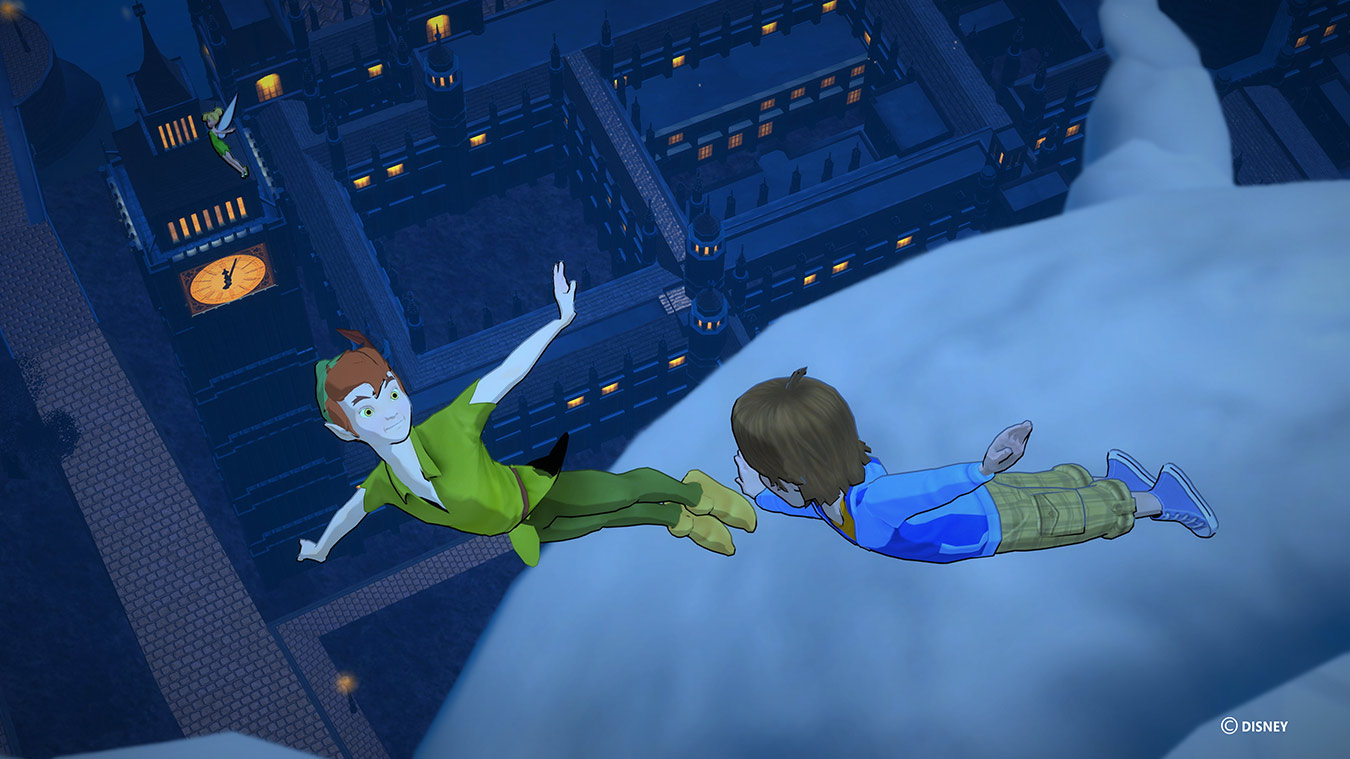 Peter pan flying with child