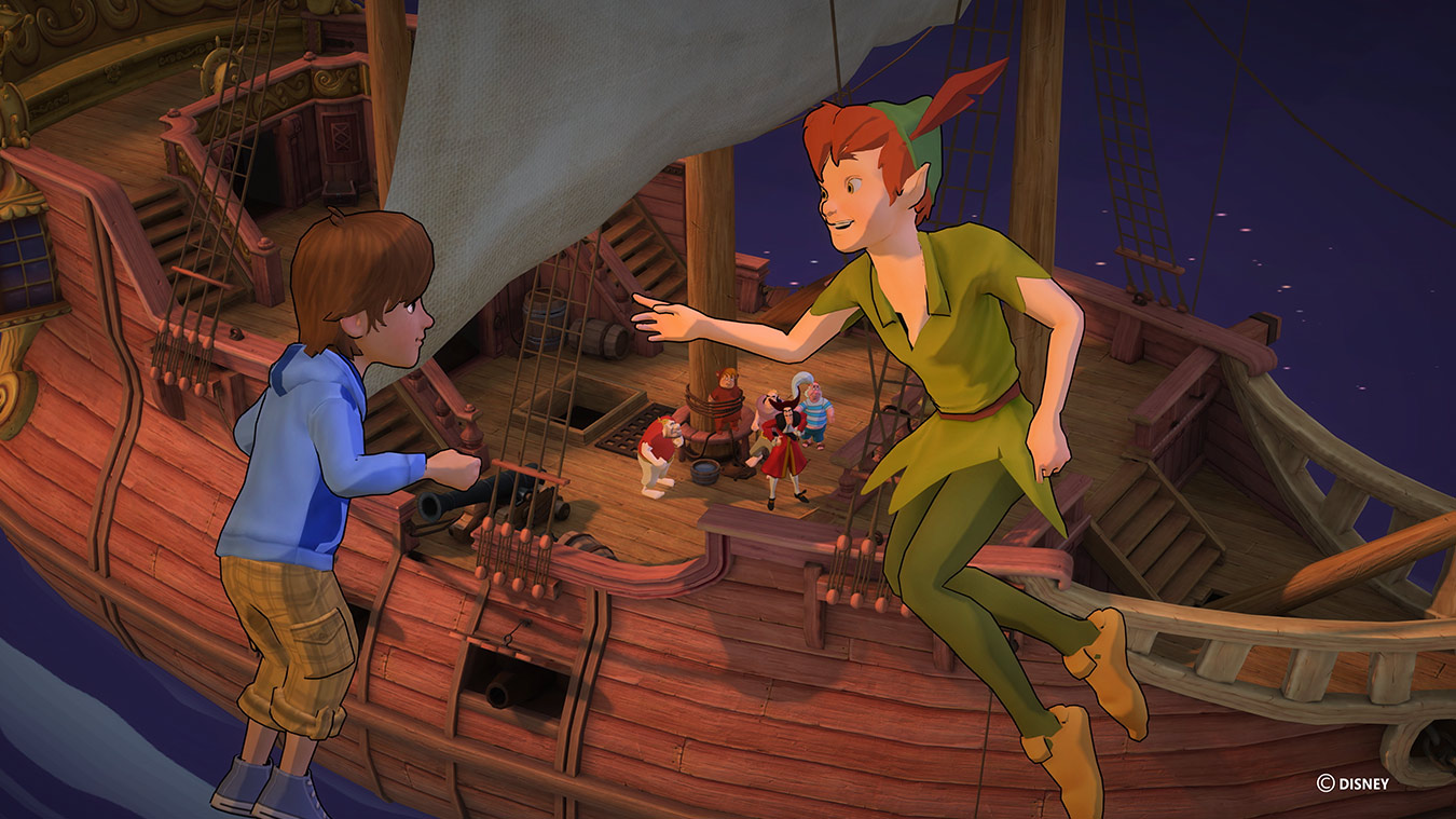Peter Pan mit Kind