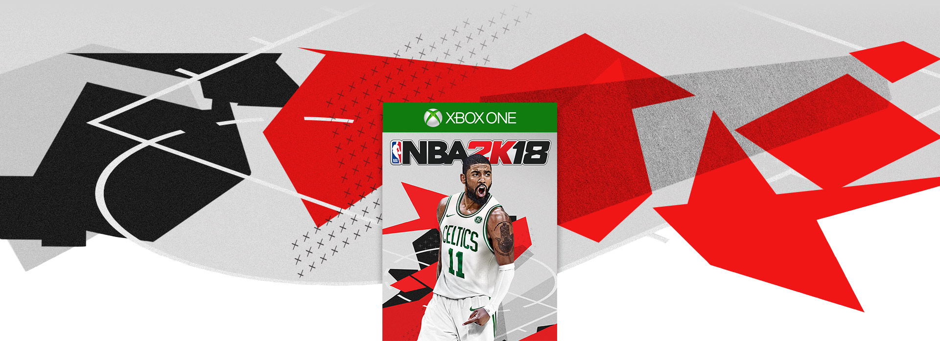 NBA 2k18 boxshot. Abstract basketball themed background