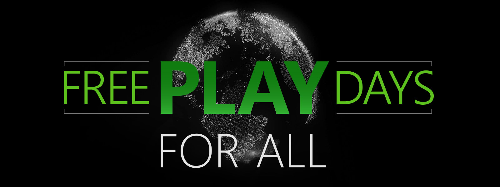 Free Play days logo with world behind the logo