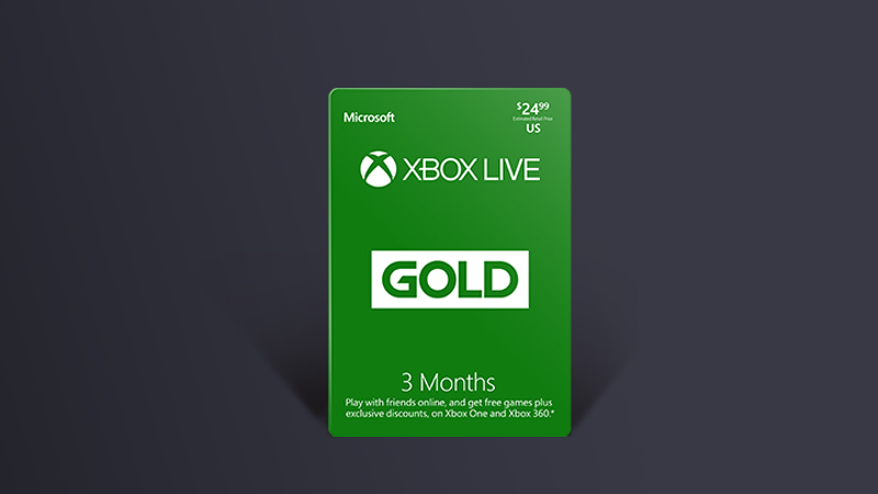 3 months Xbox Live Gold box art
