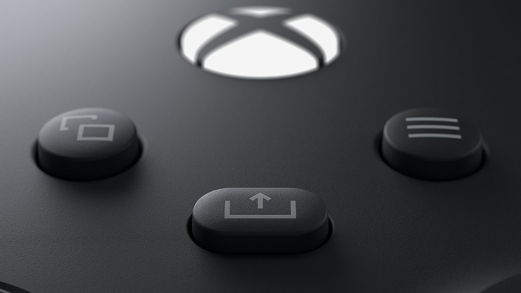the Share button on the new Xbox Wireless Controller