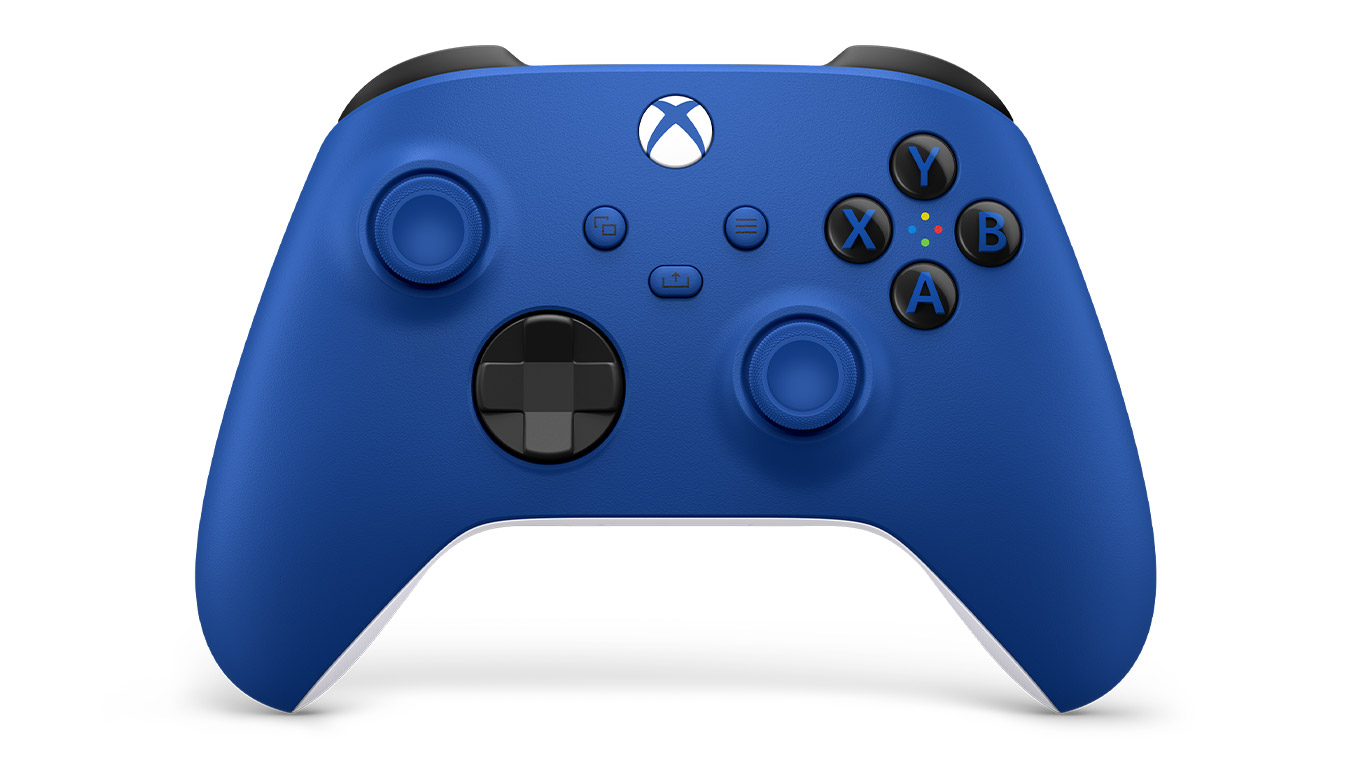 update main gallery with graphic: Front of the Xbox Wireless Controller Shock Blue