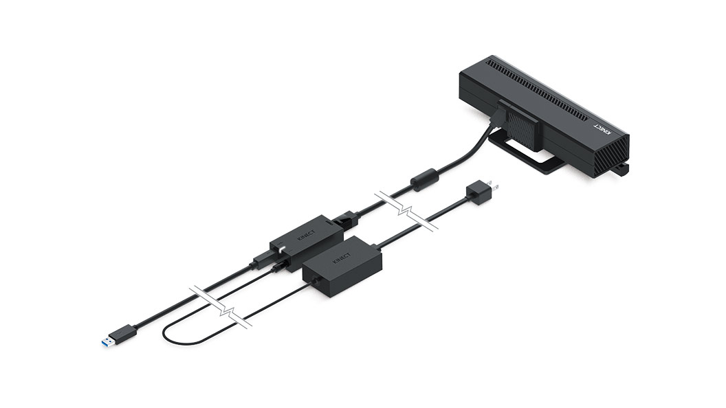 Kinect Adaptor plugged in