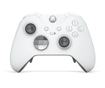 Front view of Xbox Elite Wireless Controller White SE
