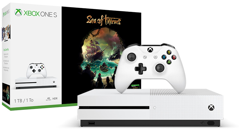 1 Tt:n Xbox One S Sea of Thieves -konsolipaketti