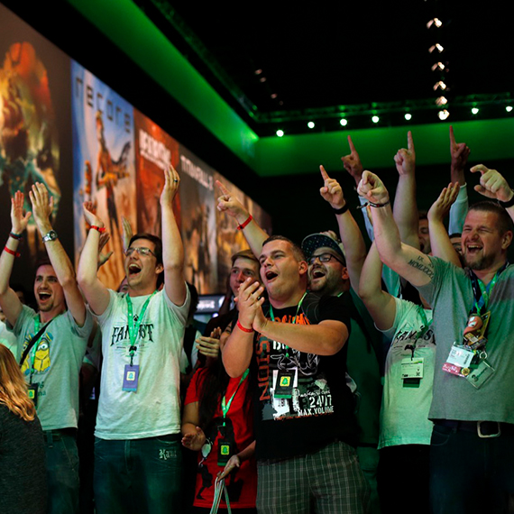 Xbox FanFest audience cheering