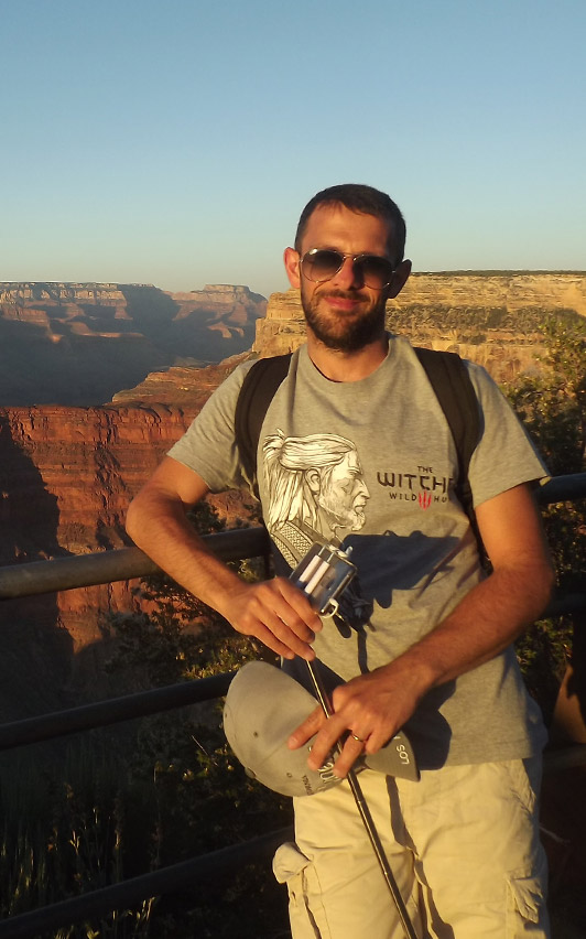 ThorX360 standing in front of the Grand Canyon
