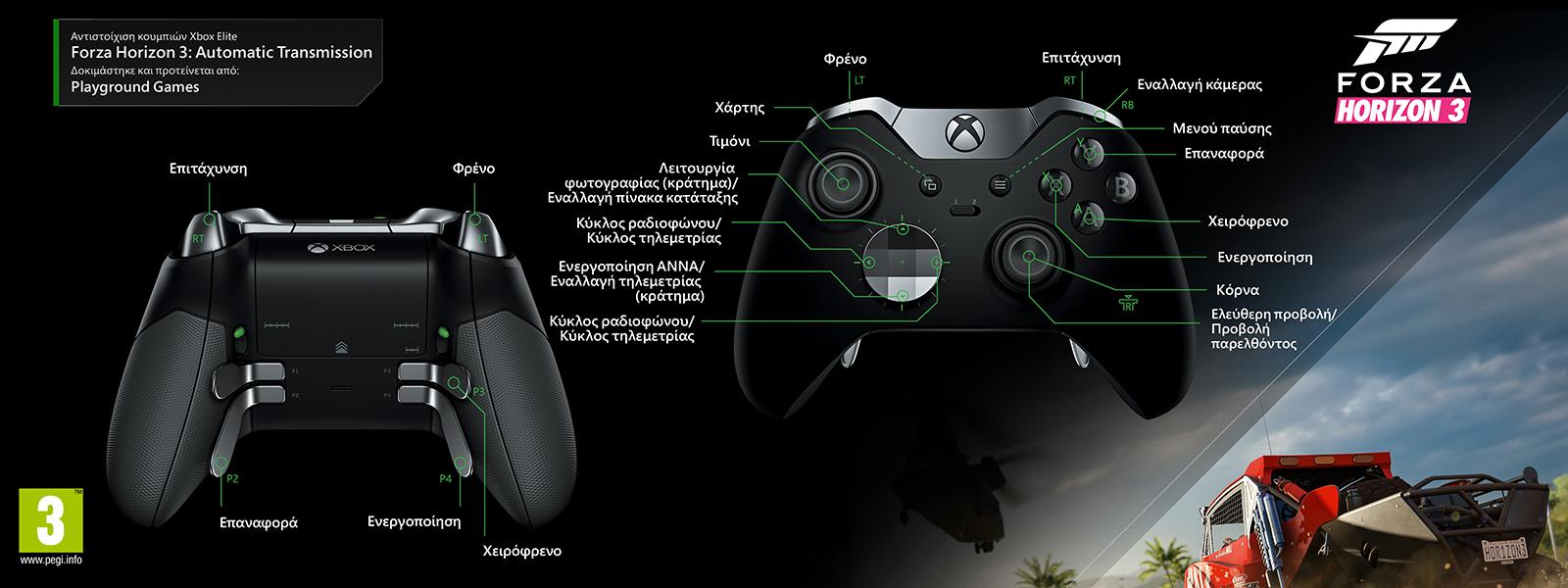 Forza Horizon 3 -Χαρτογράφηση Automatic Transmission Elite