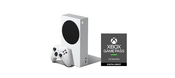 Xbox Series S with Xbox Game Pass box
