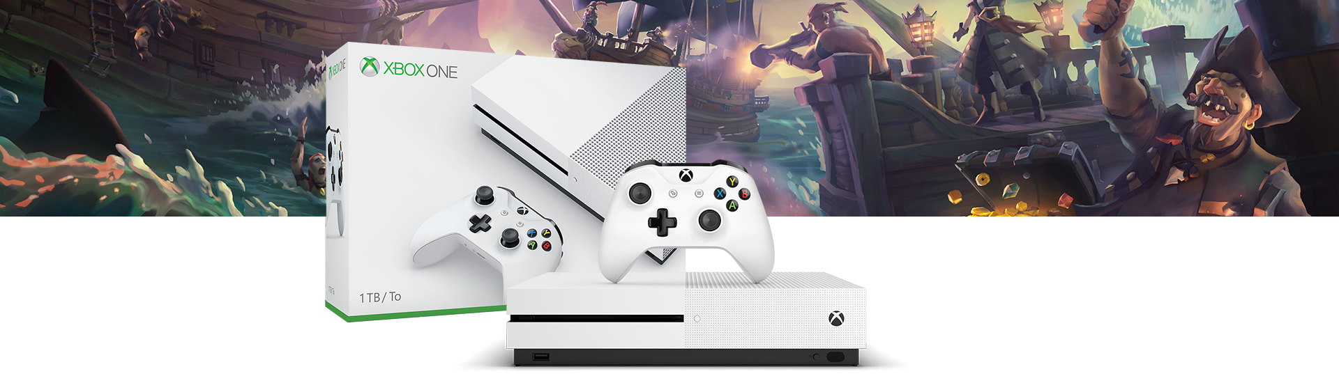 Xbox One S Sea of Thieves (1TB) console bundle
