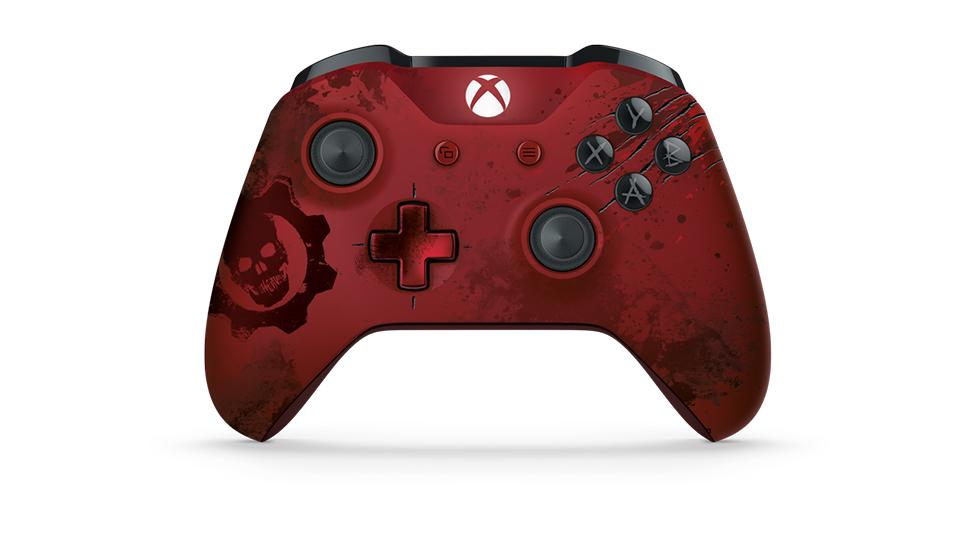 Crimson Omen 控制器的正面