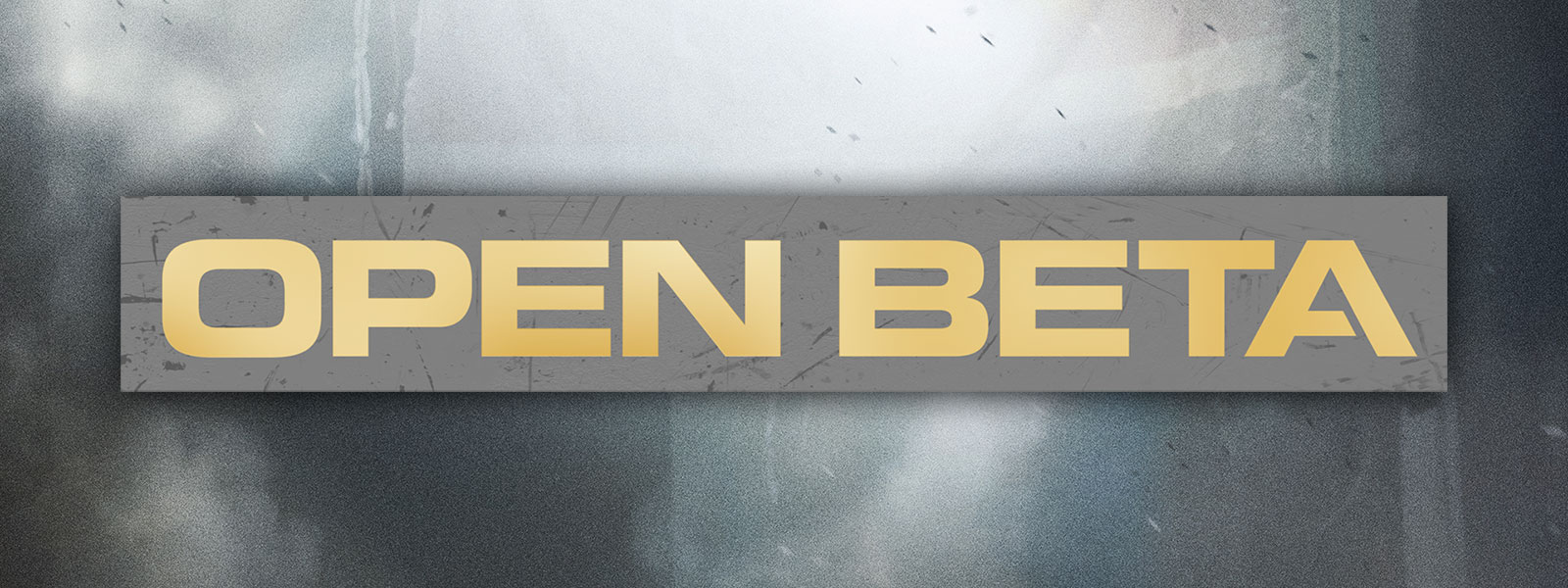 Open Beta logo with gray background