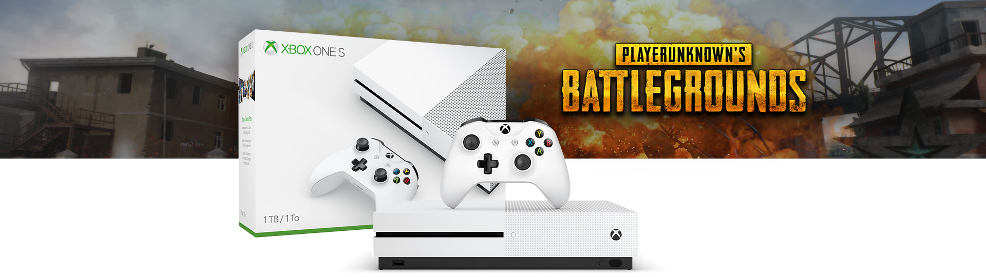 Xbox One S PLAYER UNKNOWN'S BATTLEGROUNDS Bundle (1TB)