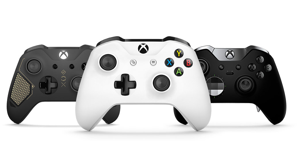 Trio of different Xbox One wireless controllers