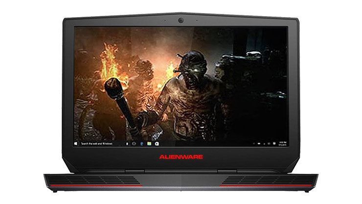 Alienware laptop showing a Killer Instinct background