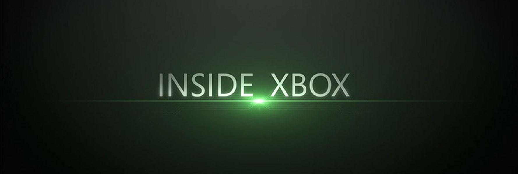 Das Inside Xbox-Logo umgeben von einem hellgrünen Haloeffekt