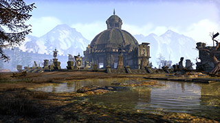 A large domed building in Cyrodiil