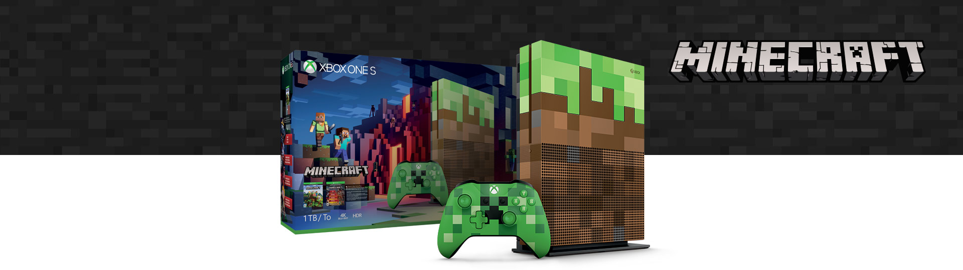 Xbox One S Minecraft Limited Edition Bundle (1 TB)