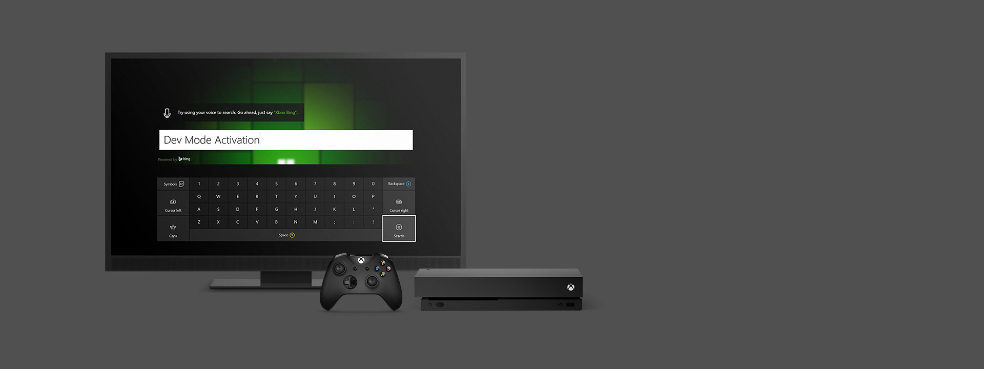 Xbox One Screen - Dev Mode Activation