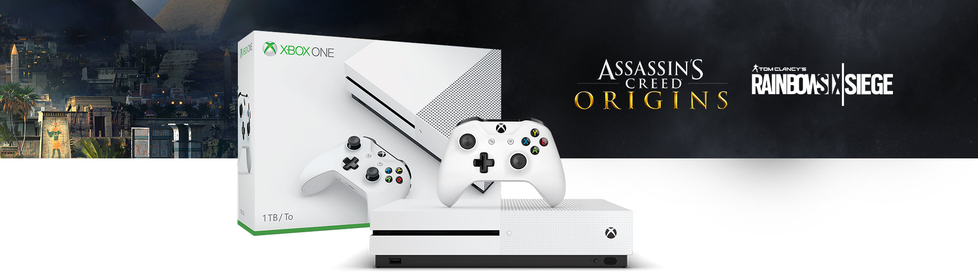 Xbox One S Assassin's Creed: Origins Bonus Bundle (1TB)