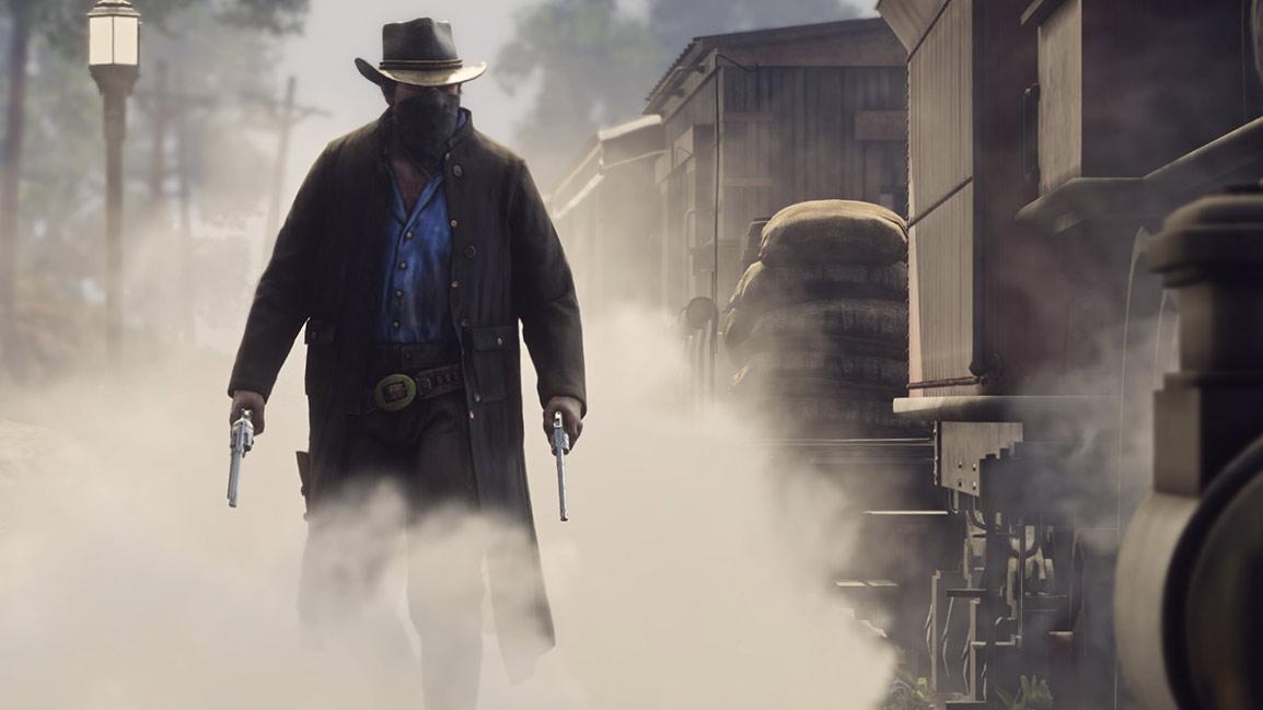 Bandit holding guns