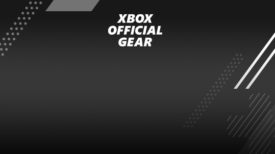 Xbox Official Gear on black background with graphics