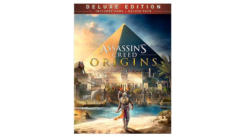 Assassin's Creed® Origins Deluxe Edition -pakkauksen kansi