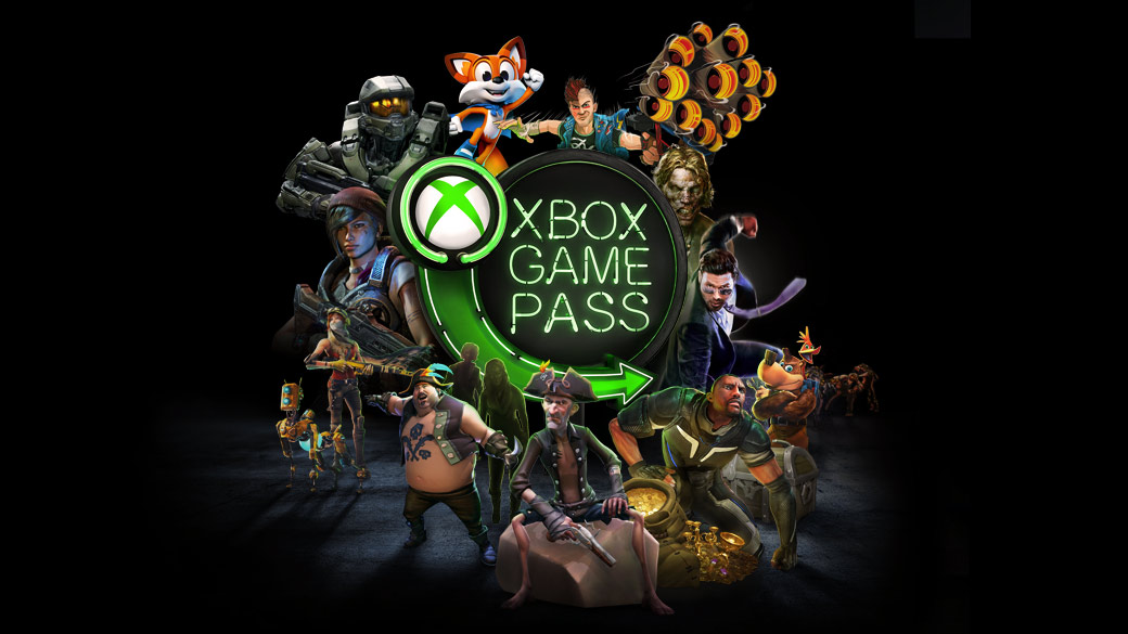 Logo Plus de 100 jeux entouré des personnages de Super Lucky's Tale, Sunset Overdrive, Dead Island, Saints Row, Crackdown 3, Sea of Thieves, Recore et Gears of War 4