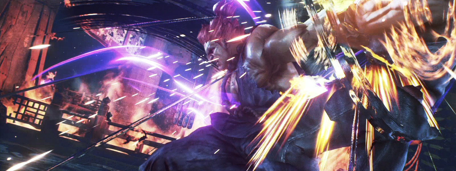 street fighter character, Akuma, charging up attack