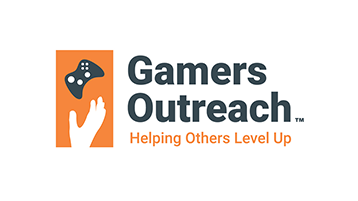 Un'immagine del logo di Gamers Outreach