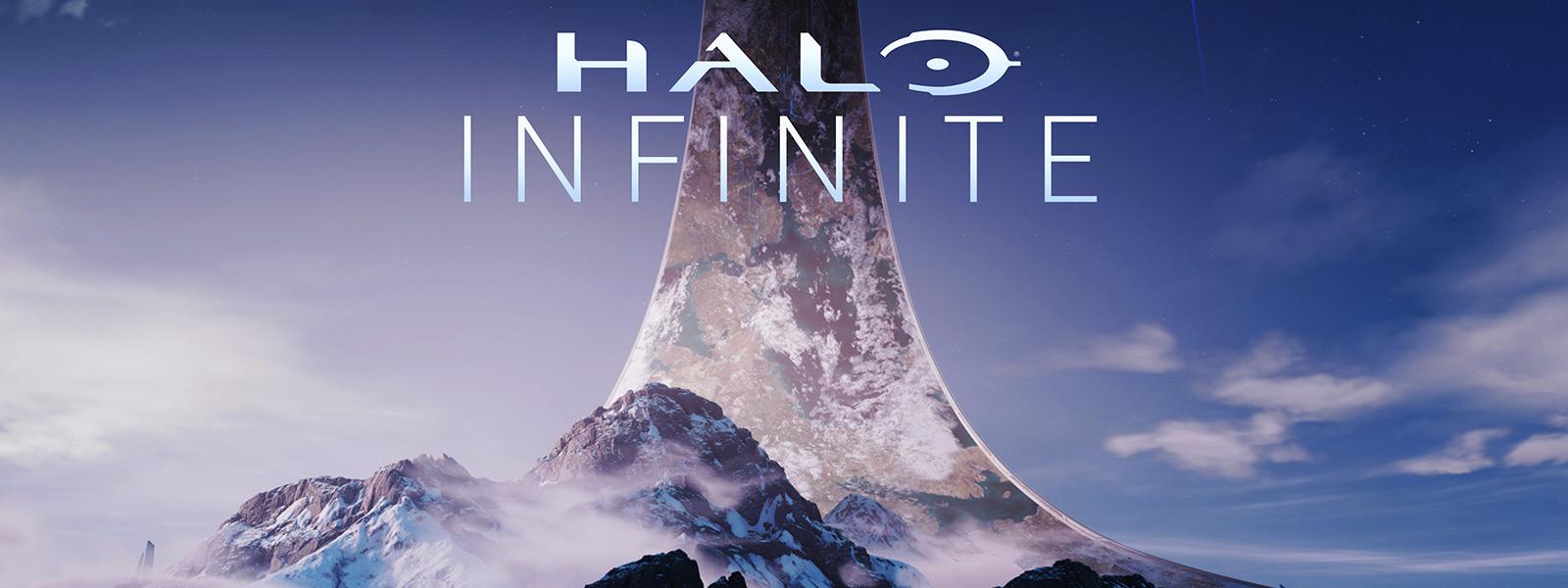 Blick auf einen Berg aus dem Inneren eines Halo-Rings