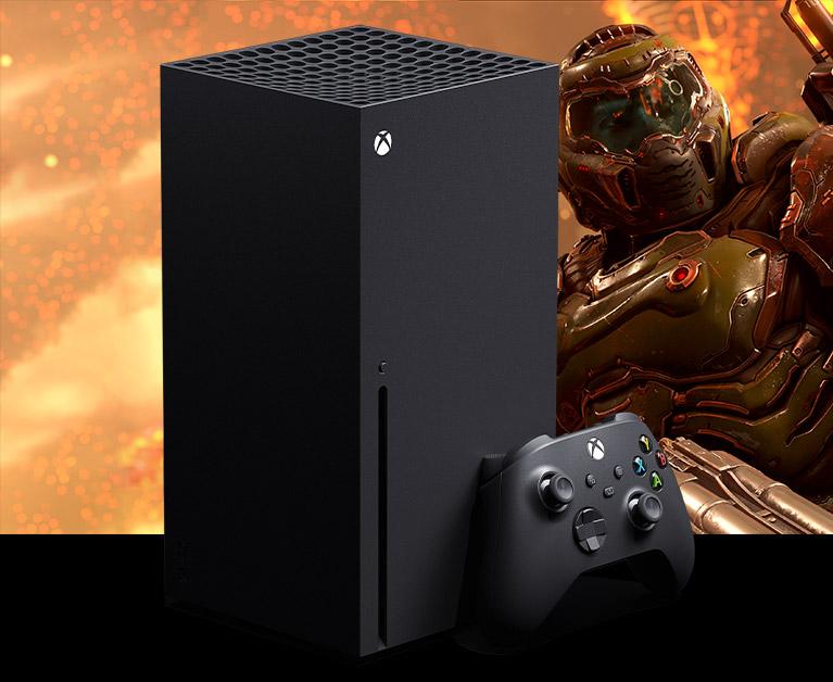 Xbox Series X-konsoll pluss kontroller