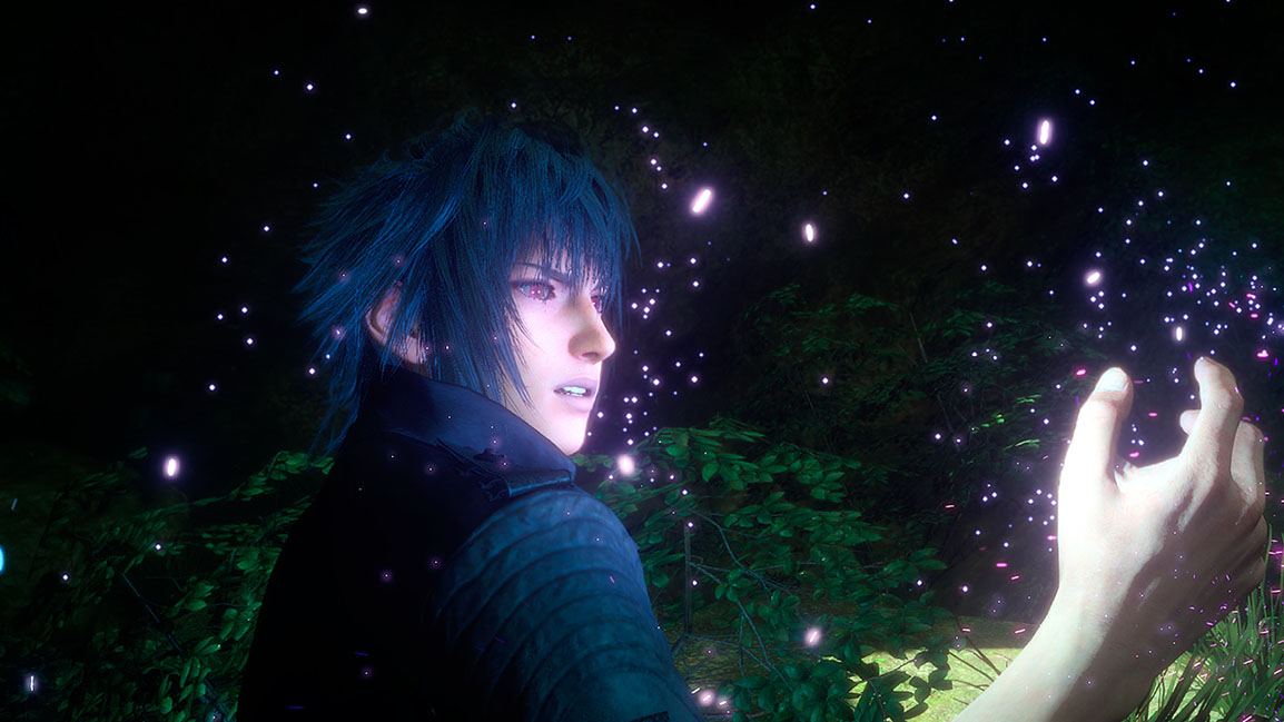 Noctis' eyes turning red