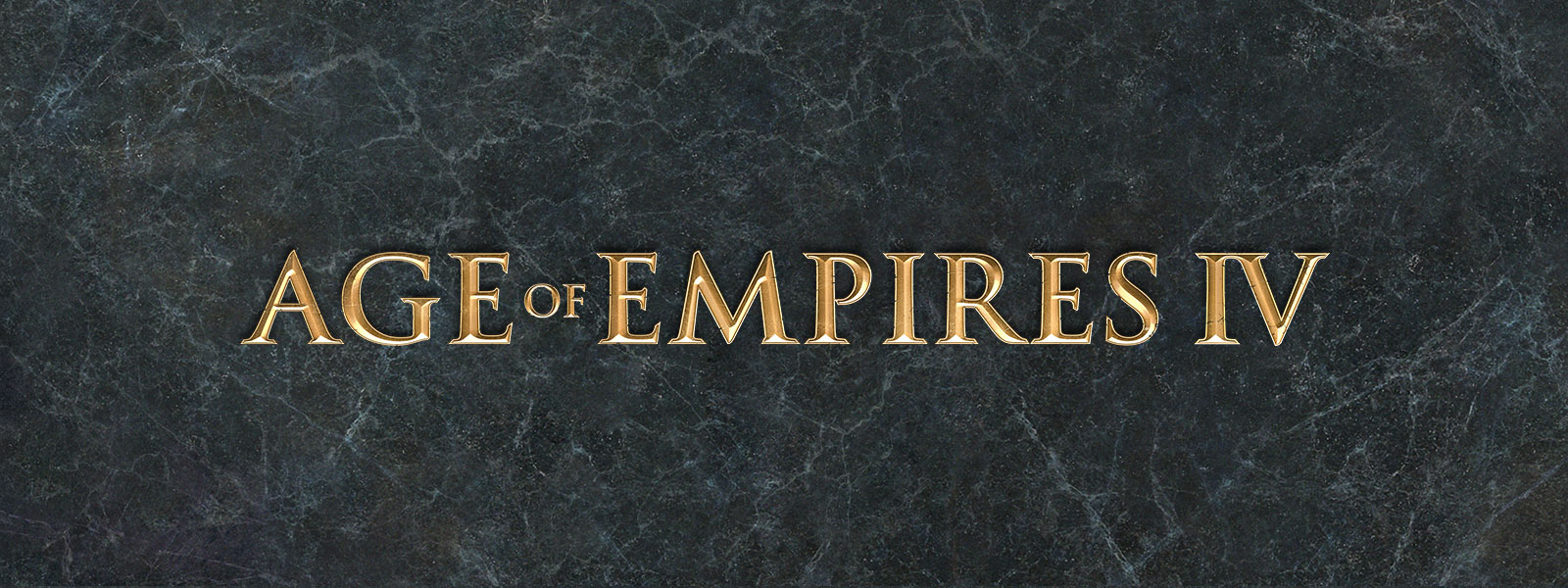 Age of Empires IV logo on a grey slate background