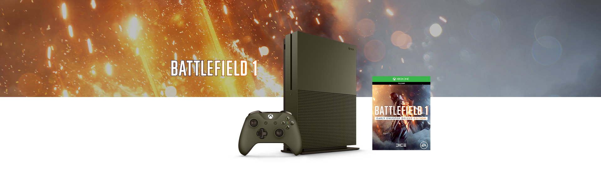 Battlefield 1 1TB green console bundle