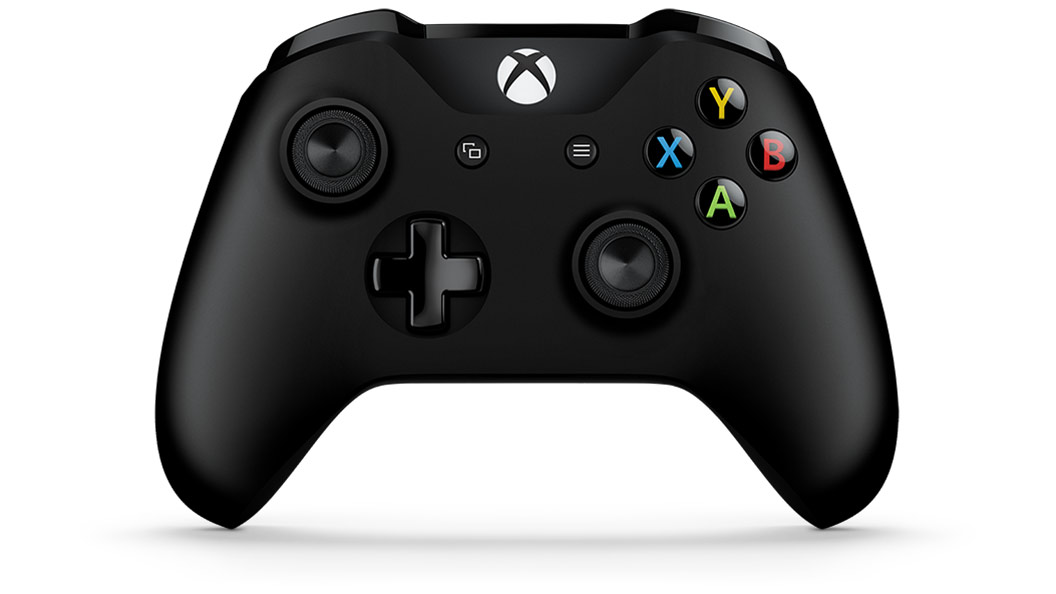 Front view of Black Controller