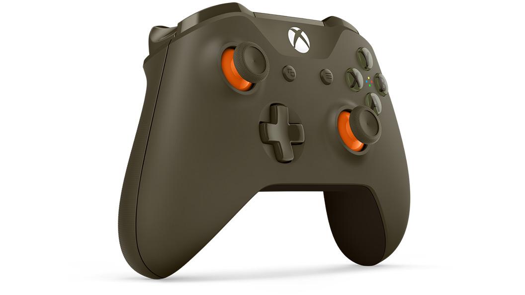 Grøn/orange controller set fra højre